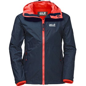 Jack Wolfskin Rainy Days - Veste Enfant - rouge/bleu